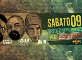 """Il """"Tridente"""" napoletano fa tappa a Molfetta: Zulù (99Posse), Valerio Jovine e Speaker Cenzou saranno all'Eremo il 9 Aprile 2016"""