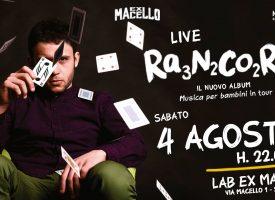 RANCORE: IL RAPPER ERMETICO LIVE SABATO 4 AGOSTO PRESSO IL LAB EX MACELLO DI SAVA (TA) ORE 22.00