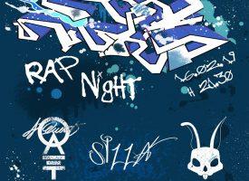 Aj Quent del collettivo Rap Pirata Veneto sul palco per Rap Night