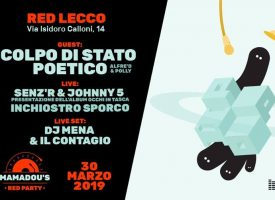 Mamadou 's Red Party | Sabato 30 Marzo